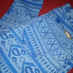 Watch L.A. blue pattern skinny jeans